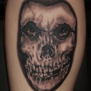 Misfits,Skull,Black&Grey