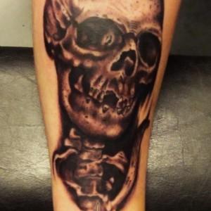 Skull,Black&Grey